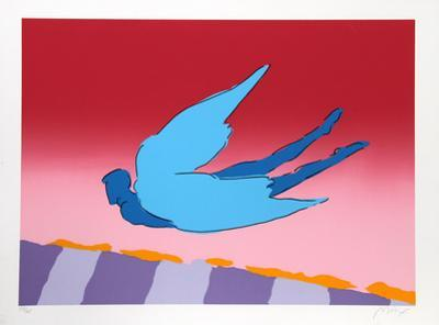 Pink Sky Flyer by Peter Max