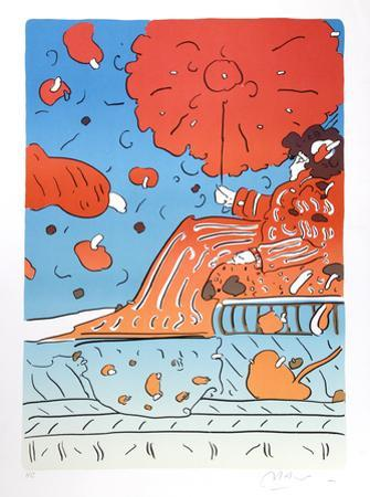 Umbrella Lady 15 by Peter Max