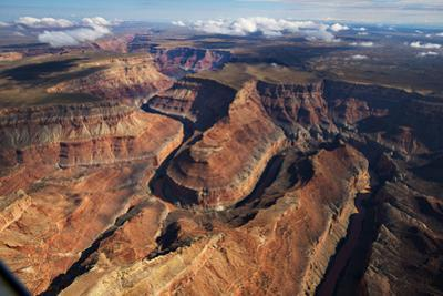 An Aerial View of the Grand Canyon and the Edge of the Navajo Reservation