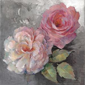 Roses on Gray I Crop by Peter McGowan