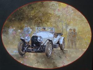 3 Litre Bentley at Kelmarsh by Peter Miller