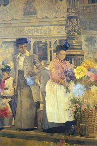Flower Seller, London by Peter Miller