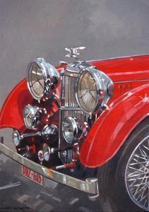 Red Sp.25 Alvis by Peter Miller