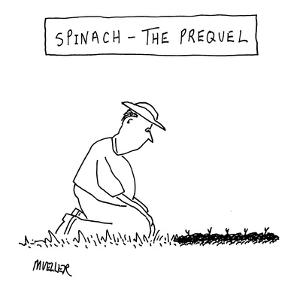 Spinach: The Prequel' - New Yorker Cartoon by Peter Mueller