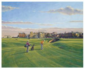 St. Andrews 17th - Road by Peter Munro
