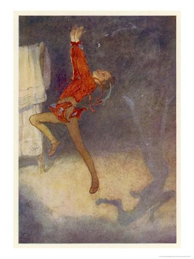 Peter Pan Dances with His Shadow-Alice B^ Woodward-Giclee Print
