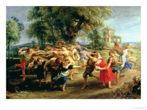 A Peasant Dance, 1636-40 by Peter Paul Rubens