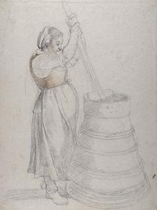 A Peasant Girl Churning Butter by Peter Paul Rubens