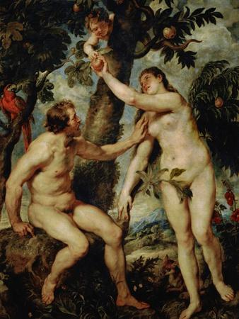 Adam and Eve, a Rather Free Copy of the Painting by Titian