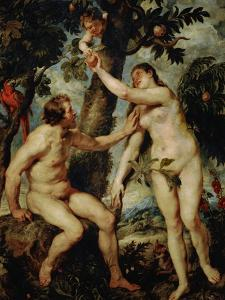 Adam and Eve, a Rather Free Copy of the Painting by Titian by Peter Paul Rubens