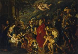Adoration of the Magi, 1608 and 1628/29 (Enlarged) by Peter Paul Rubens