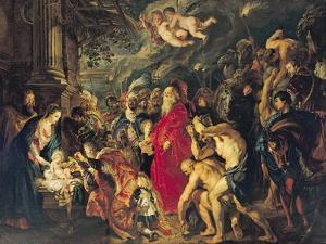 Adoration of the Magi, 1610 by Peter Paul Rubens