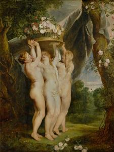 And Jan Brueghel the Younger (1601-1678): The Three Graces by Peter Paul Rubens