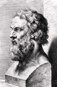 Bust of Plato (circa 427-circa 348 BC) Engraved by Lucas Emil Vorsterman (1595-1675) by Peter Paul Rubens