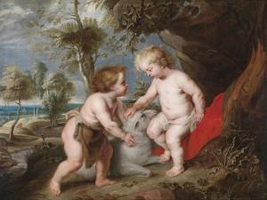 Christ and John the Baptist as Children by Peter Paul Rubens
