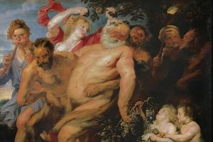Drunken Silenus Supported by Satyrs, C.1620 by Peter Paul Rubens