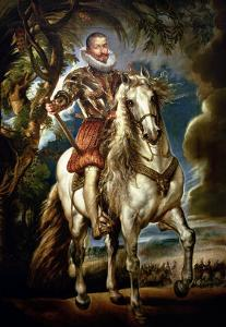 Equestrian Portrait of the Duke of Lerma (1553-1625) 1603 by Peter Paul Rubens