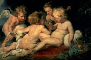 Infant Christ with John the Baptist and Two Angels, 1615-1620 by Peter Paul Rubens
