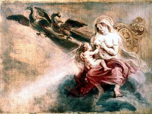 Juno Suckling Hercules by Peter Paul Rubens