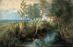 Landscape with Stream Overhung with Trees, 1637-1640 by Peter Paul Rubens