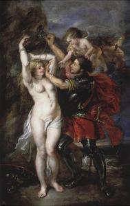 Liberation of Andromeda by Perseus, Greek Hero Who Has Just Saved the Princess by Peter Paul Rubens