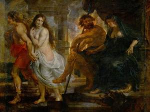 Orpheus and Euridice with Pluto and Proserpina, Painted for the Torre De La Parada by Peter Paul Rubens