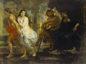 Orpheus Fuehrt Eurydike Aus Dem Hades, 1636/38 by Peter Paul Rubens