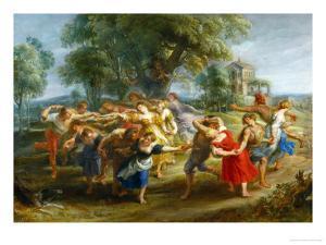 Peasants' Dance, circa 1630 by Peter Paul Rubens
