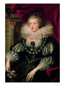 Portrait of Anne of Austria (1601-66) Infanta of Spain, Queen of France and Navarre by Peter Paul Rubens