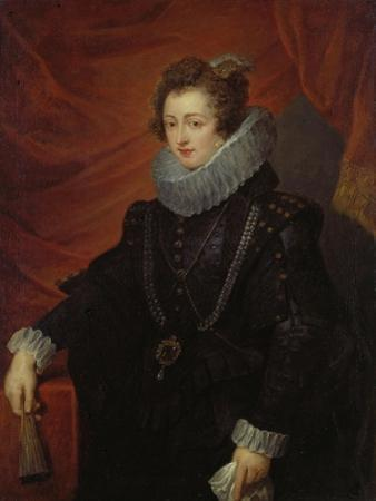Portrait of Elisabeth of Bourbon (Queen of Spain) by Peter Paul Rubens