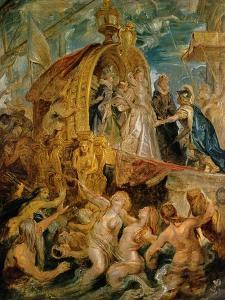 Reception of the Newly Married Mari De'Medici in the Harbour of Marseille by Peter Paul Rubens