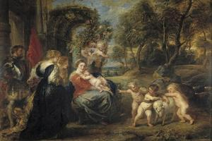 Rest on the Flight into Egypt, with Saints, C. 1635 by Peter Paul Rubens
