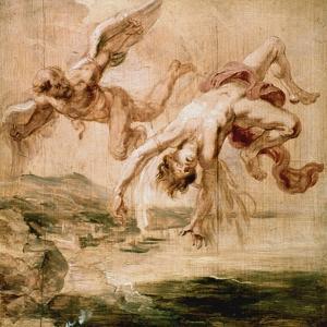 Rubens:Fall Of Icarus 1637 by Peter Paul Rubens