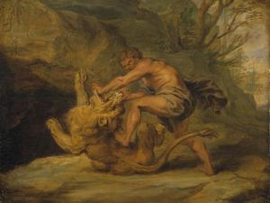 Samson and the Lion, c.1640 by Peter Paul Rubens