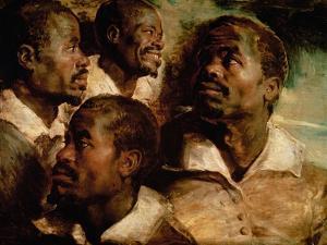 Studies of the Head of a Black Man by Peter Paul Rubens