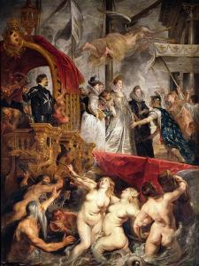 The Arrival of Marie De Medici (1573-1642) in Marseilles, 3rd November 1600, 1621-25 by Peter Paul Rubens