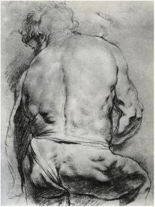 The Back of a Nude Man, C1610 by Peter Paul Rubens