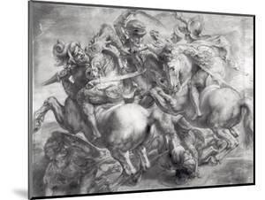 The Battle of Anghiari after Leonardo Da Vinci (1452-1519) by Peter Paul Rubens
