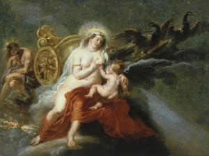 The Birth of the Milky Way with Juno Breastfeeding Baby Hercules, 1636-37 by Peter Paul Rubens