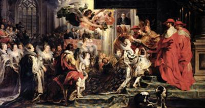 The Coronation of Marie de Medici at St. Denis, 13th May 1610, 1621-25