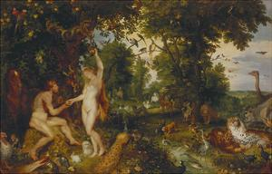 The Garden of Eden with the Fall of Man, about 1616 by Peter Paul Rubens