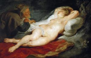The Hermit and Sleeping Angelica by Peter Paul Rubens