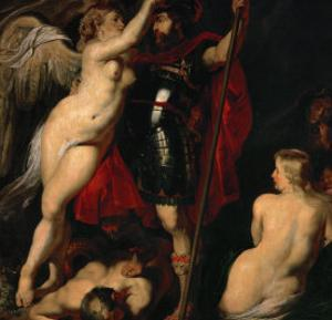 The Hero of Virtue, Mars, Crowned by the Goddess of Victory by Peter Paul Rubens