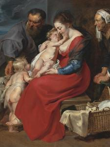 The Holy Family with Saints Elizabeth and John the Baptist, C.1615 by Peter Paul Rubens