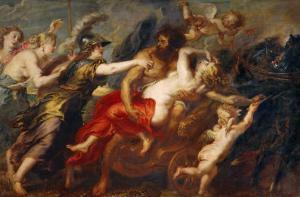 The Rape of Proserpine, Pluto Carries off Proserpina, Minerva, Venus and Diana Try to Stop the Rape by Peter Paul Rubens