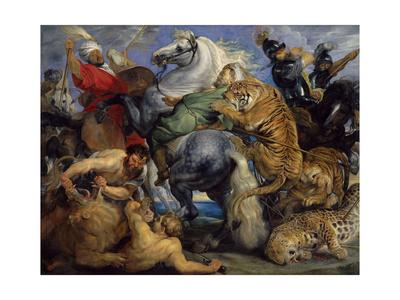 The Tiger Hunt, 1616