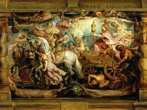 The Triumph of the Church Over Fury, Discord and Hatred by Peter Paul Rubens