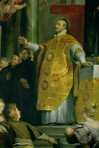 The Vision of St. Ignatius of Loyola (circa 1491-1556) Detail of the Saint, 1617-18 by Peter Paul Rubens