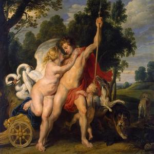 Venus and Adonis, C1614 by Peter Paul Rubens