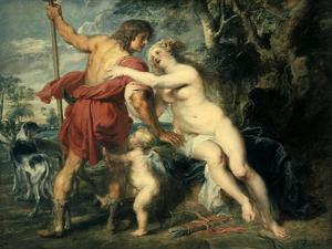 Venus and Adonis, C1630 by Peter Paul Rubens
